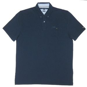 Tommy Hilfiger Mens Custom-Fit Button-Down Polo